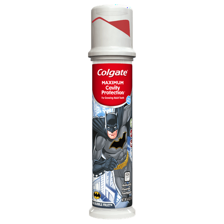 Kids Cavity Protection - Colgate Maximum Cavity Protection Kids Toothpaste Pump, Batman - 4.4 Ounce