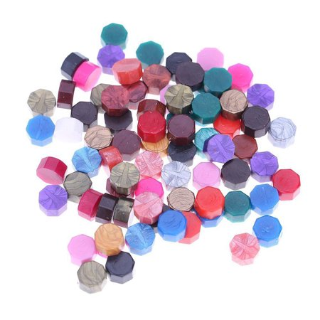Octagon Sealing Wax Beads for Retro Seal Stamp Wedding Envelope Invitation Card Color:mixed colors - Wedding Envelope Seals