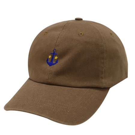 City Hunter C104 Anchor Cotton Baseball Summer Dad Cap 18 Colors (Brown) (Swat Hats)