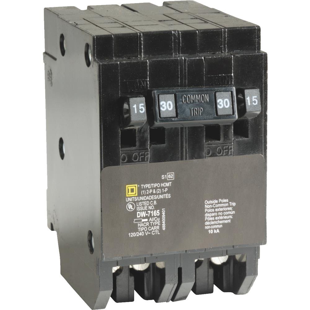 Square D Co. Quad Breaker HOMT1515230CP