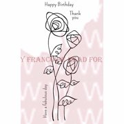 """Woodware Clear Stamps 8""""X3""""-Wire Roses"""