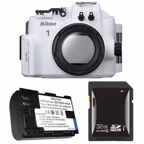 Nikon WP-N3 Waterproof Housing for Nikon 1 J4 or S2 Camera and NIKKOR 11-27.5mm or 10-30mm Lens + EN-EL22 Battery + 32GB SDHC Card Saver Bundle 2