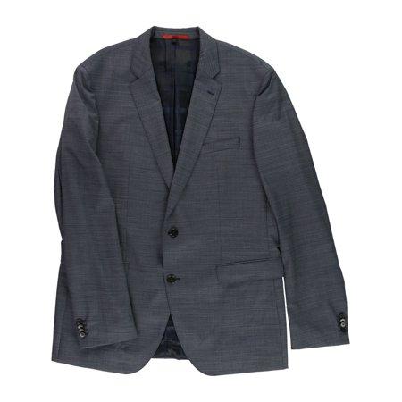 80ca307be Boss Hugo Boss - Hugo Boss Mens Slim-Fit Two Button Blazer Jacket darkblue  48 - Walmart.com