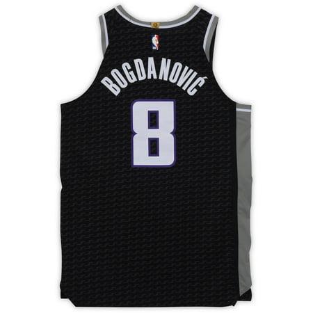 finest selection 1c386 e9ac3 Bogdan Bogdanovic Sacramento Kings Game-Used #8 Black Jersey vs.  Philadelphia 76ers on February 2, 2019 - Size 50+4 - Fanatics Authentic  Certified