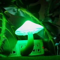 Beauty Night Light Lava Lamps LED Small Portable Mushroom Lamp Bedside Wall Color:Green