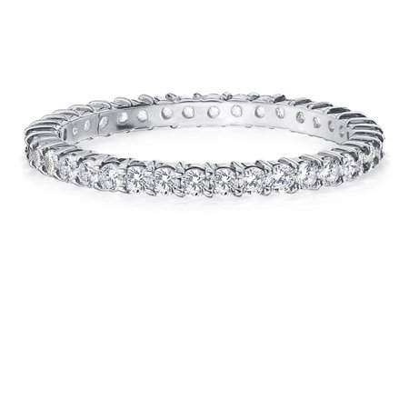 - 0.5 CTTW Round Diamond Eternity Wedding Ring in 14K White Gold