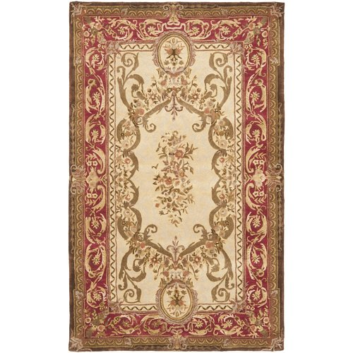 Astoria Grand Loren Tufted Wool Gold/Red Area Rug