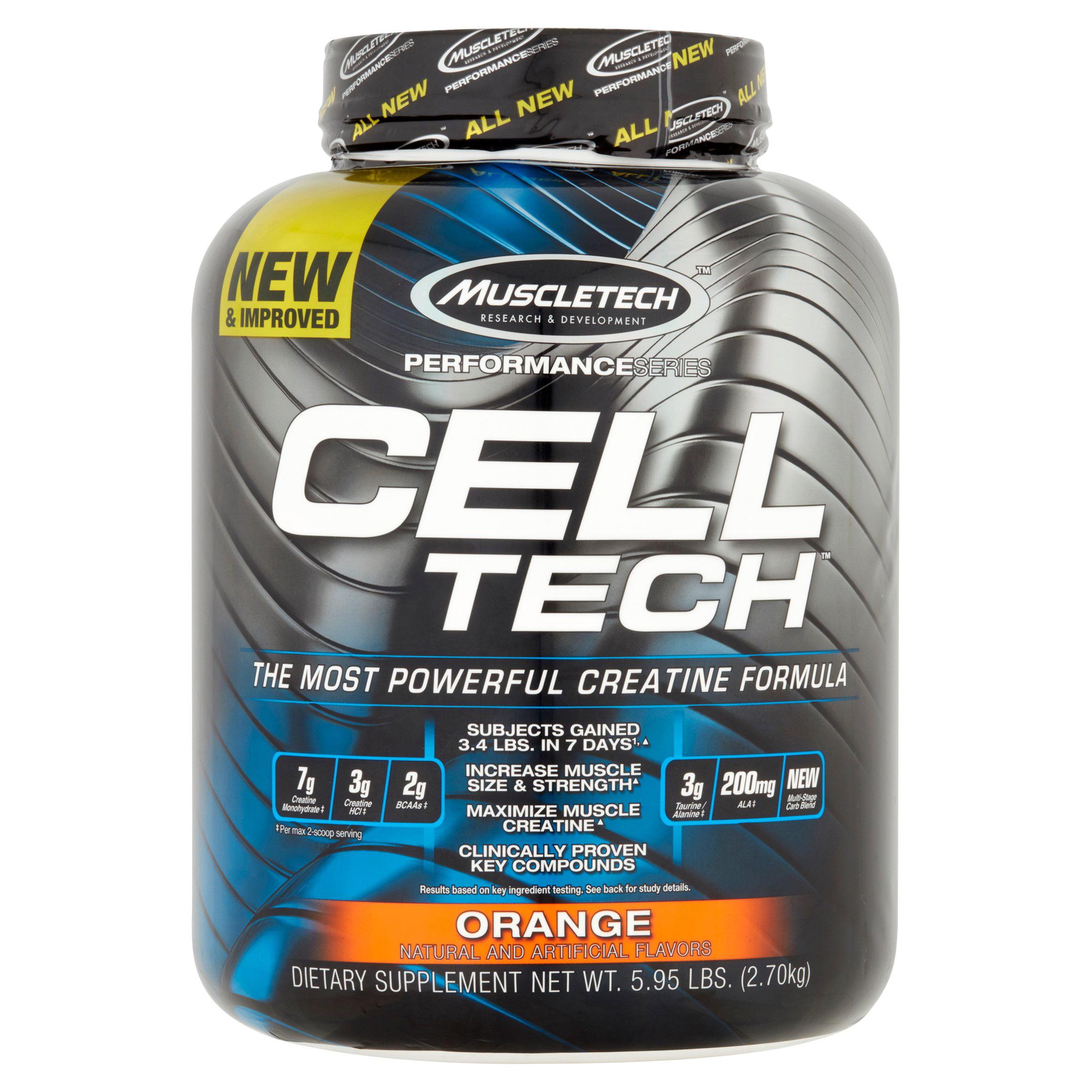 MuscleTech Cell Tech Hardgainer Creatine Powder, Orange, 55 Servings