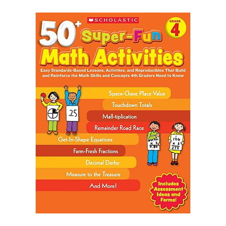 50+ Super-Fun Math Activities, Grade 4 : Easy Standards-Based Lessons, Activities, and Reproducibles That Build and Reinforce the Math Skills and Concepts 4th Graders Need to Know](First Grade Halloween Lesson Plans)