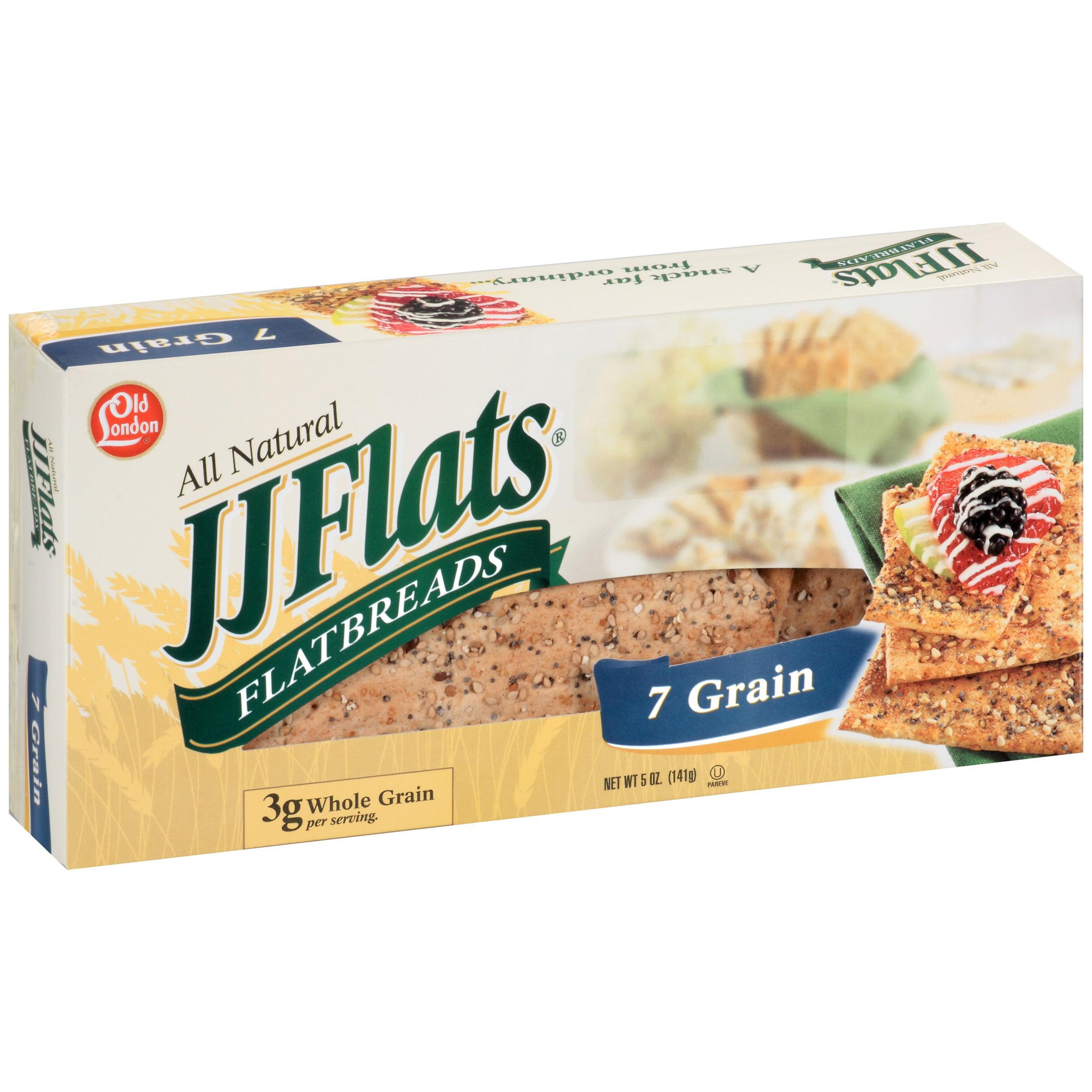 Old London Foods Flats Flatbread, 7 Grain, 5 Oz