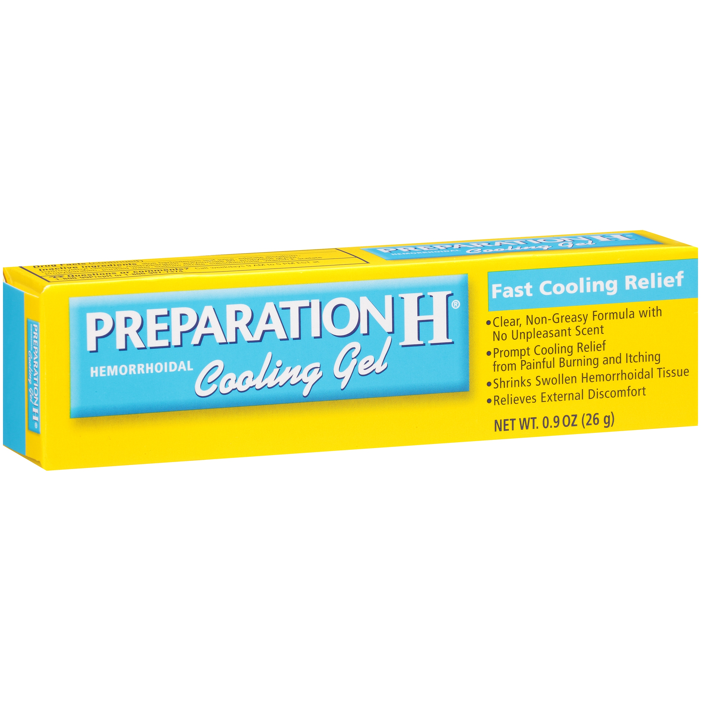 Preparation H Hemorrhoid Symptom Treatment Cooling Gel (0.9 Ounce), Fast Discomfort Relief with Vitamin E and Aloe, Tube
