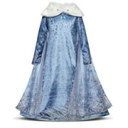 Snow Princess Dress Girls Cosplay Party Fancy Costume Christmas Dress up