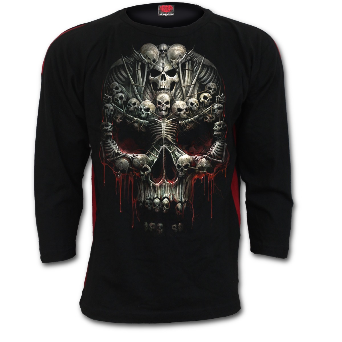 Death RE-Ripped Kids Hoody Black Spiral Boys