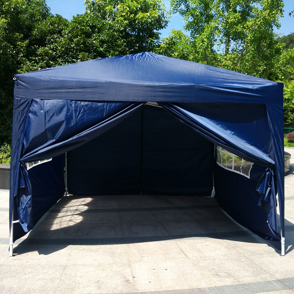 Ktaxon 10u0027x10u0027 EZ Pop UP Wedding Party Parking Tent Folding Gazebo Canopy W : canopy with sides - memphite.com