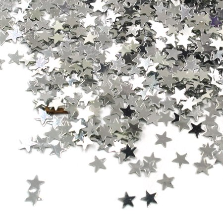 Star Confetti Star Table Silver Shiny Glitter Stars Sequin for Christmas Wedding Party Decorations Supplies](Stars For Decorations)