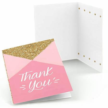 1st Birthday Girl - Fun to be One - First Birthday Party Thank You Cards (8 - Birthday Thank You Cards