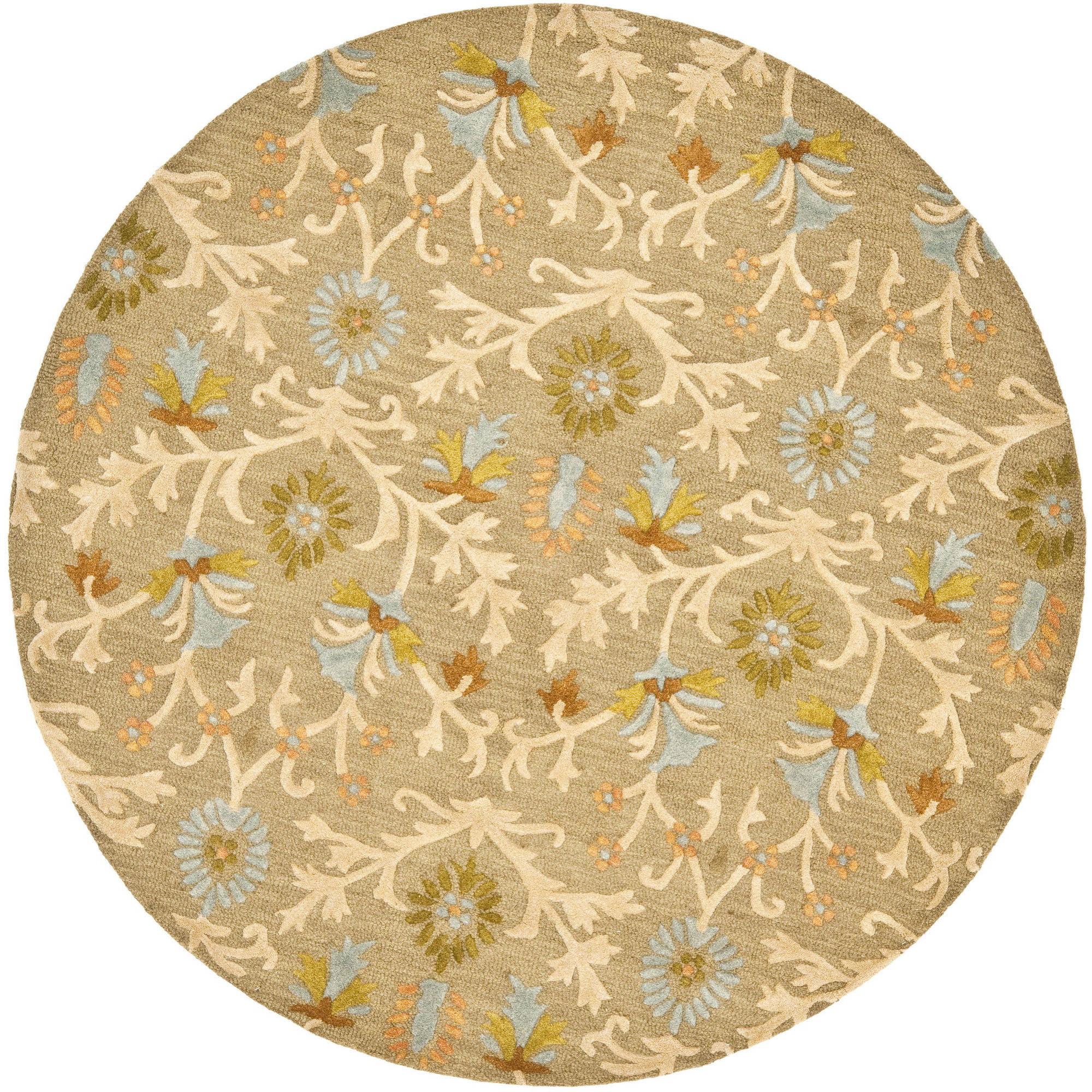 Safavieh Cambridge Jone Welsh Wool Pile Area Rug, Moss/Multi