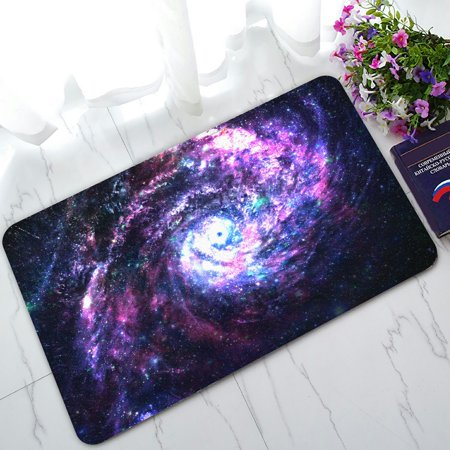 PHFZK Cosmos Cosmic Doormat, Incredibly Beautiful Spiral Galaxy in Deep Space Doormat Outdoors/Indoor Doormat Home Floor Mats Rugs Size 30x18 (Space Matt)