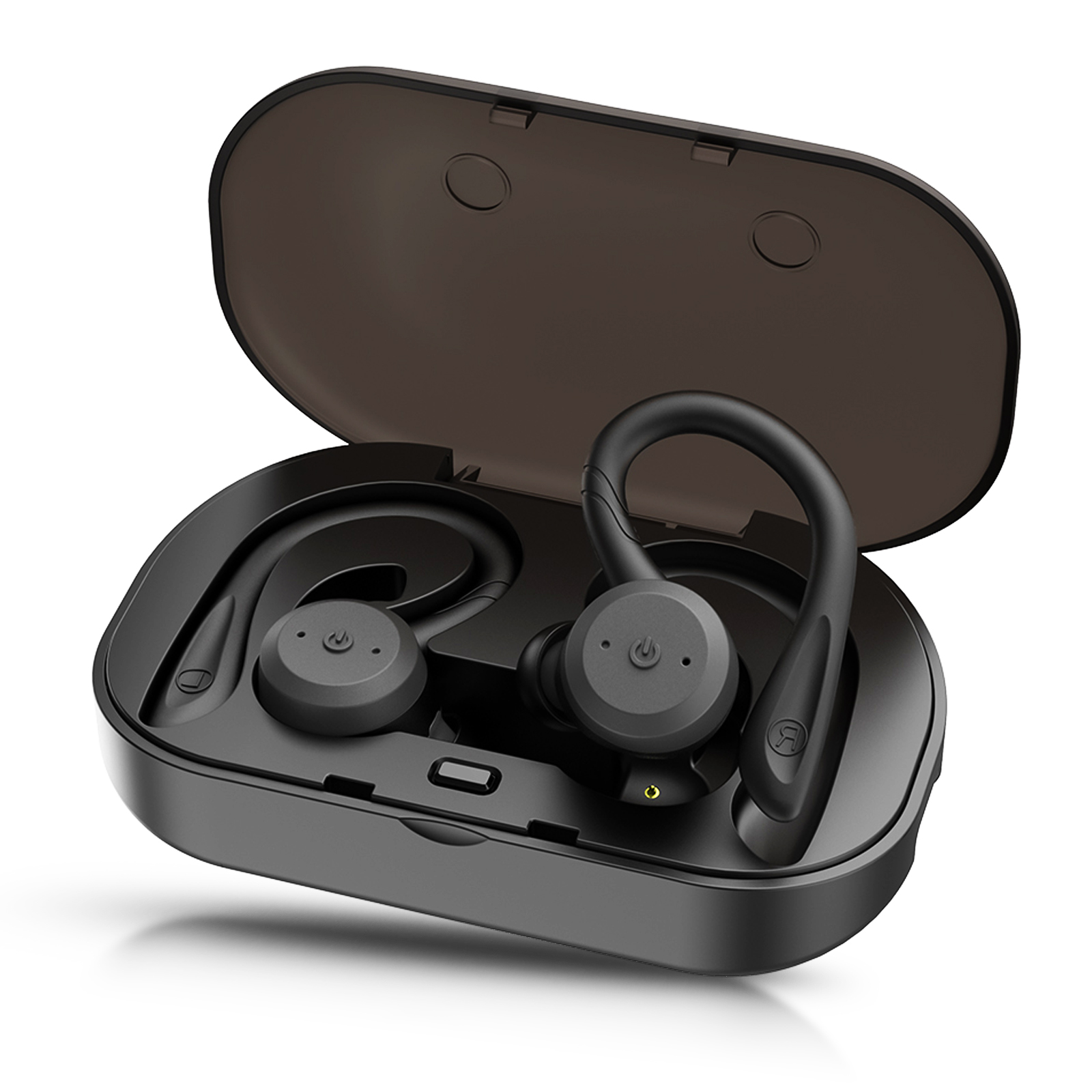 Bluetooth Headphones, TSV 5.0 True Wireless Earbuds Deep Bass HiFi Stereo Sound Bluetooth Earphones 12H Playtime Mini in Ear Headset with Charging Case and Built in Mic for Sports Running