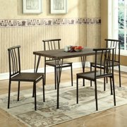 Global Furniture 5 Piece Dining Room Set in Brown