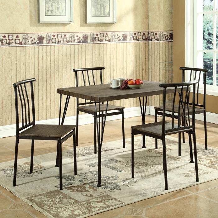 global furniture 5 piece dining room set in brown global furniture 5 piece dining room set brown amp white