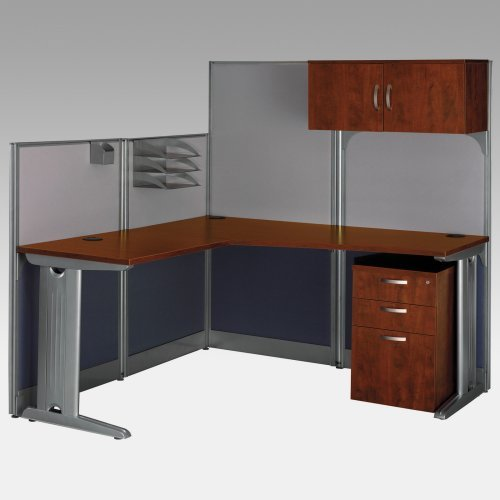 Bush Office-in-an-Hour L-Shaped Computer Desk with Storage