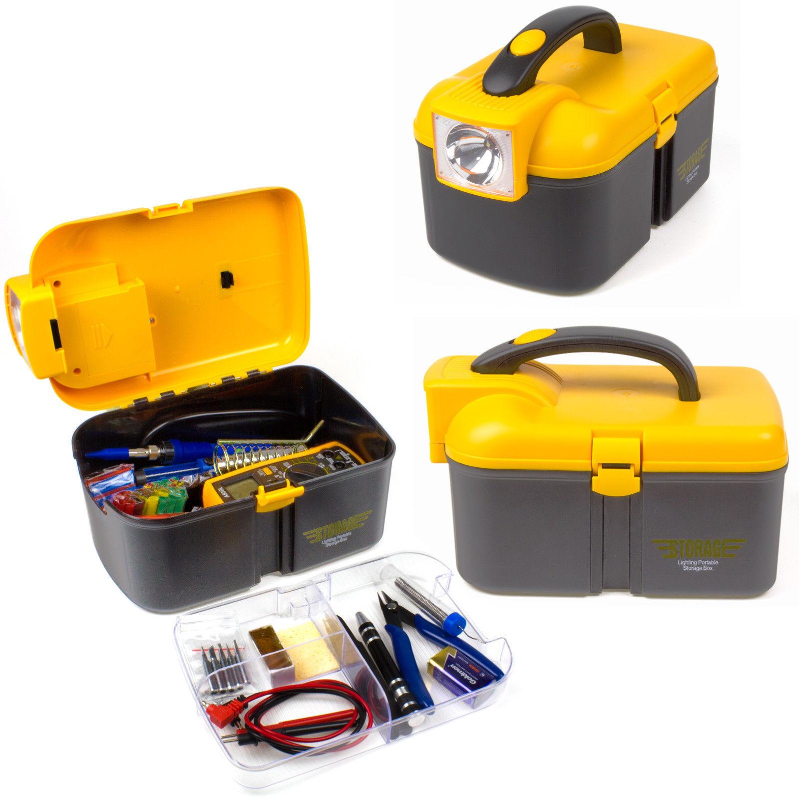 Soldering Iron Kit Welding Tool 60W Adjustable Temp Digital Multimeter with Box
