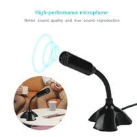 LHCER Mini Condenser USB 2.0 Microphone Flexible Desktop Stand Mic for PC Laptop, Flexible Desktop Stand Microphone, USB Desktop Microphone
