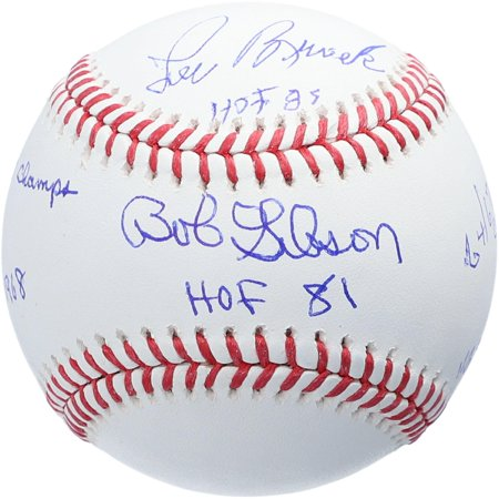 Bob Gibson and Lou Brock St. Louis Cardinals Autographed Baseball with Multiple Inscriptions - #24 of a Limited Edition of 24 - Fanatics Authentic Certified Bob Gibson Autographed Baseball