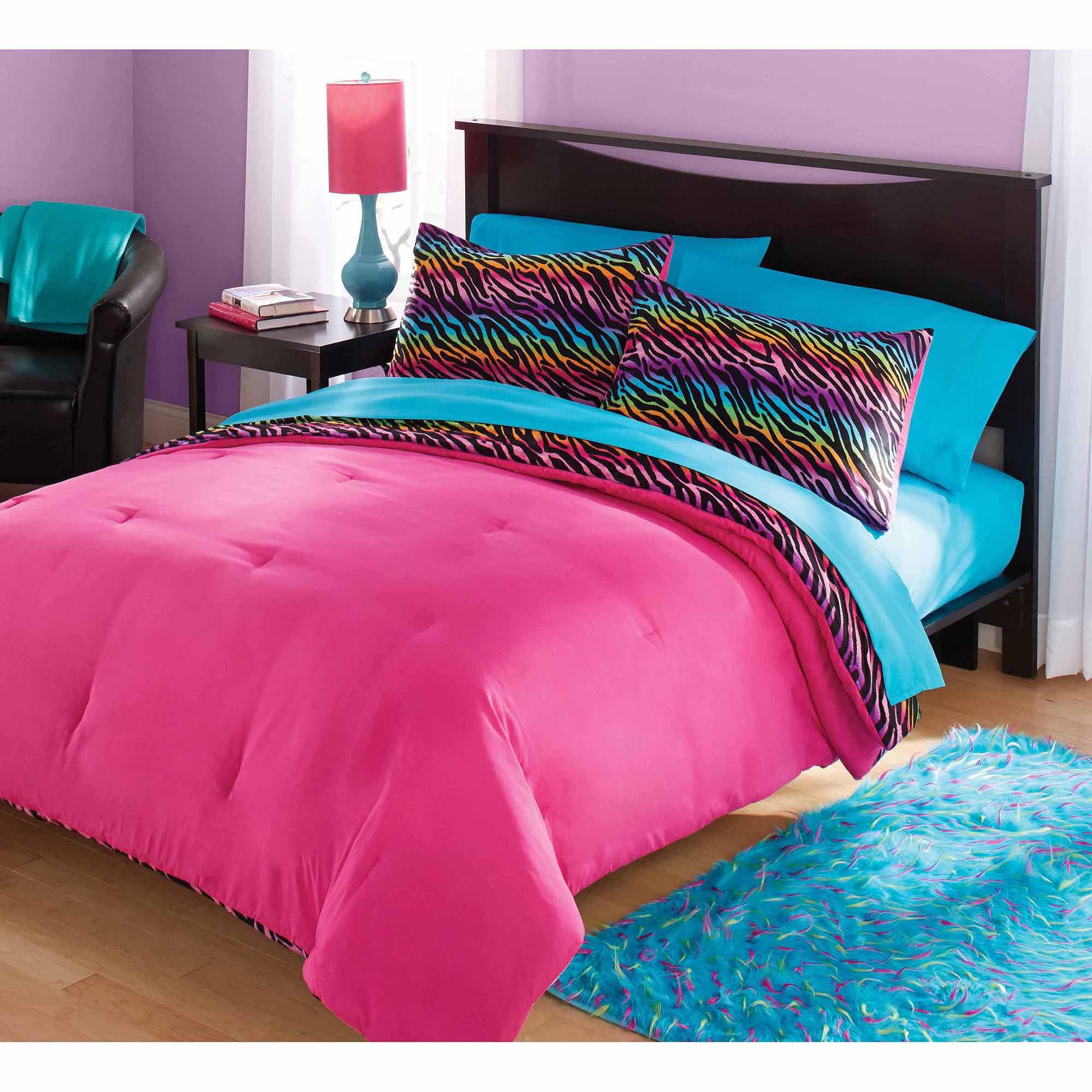 pink zebra bedding sets twin