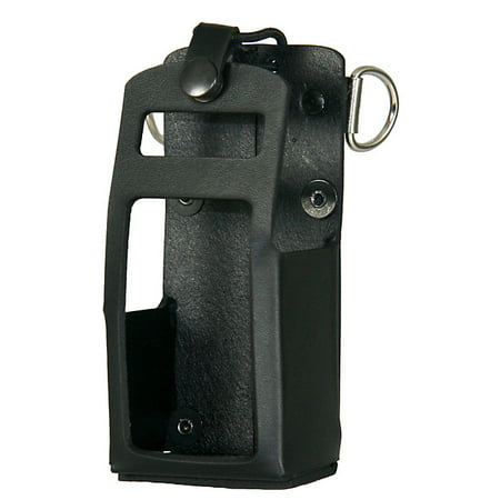 Boston Leather Leather Radio Holder for Motorola APX 4000 - (Leather Radio Holder For Motorola Apx 6000)