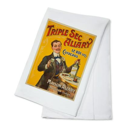 Triple Sec Allary Vintage Poster France c. 1900 (100% Cotton Kitchen -