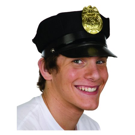 Adult's Police Cap With Badge Costume Accessory (Police Badge Toy)