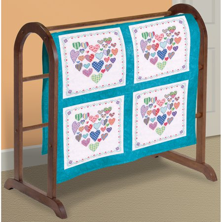 "Heart Filled with Hearts Quilt Blocks Stamped Cross-Stitch, 18"" x 18"", 6pk"