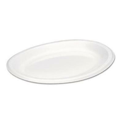 - Genpak Elite Laminated Oval Foam Platters, 8-1/2 x 11-1/2, 500/CT