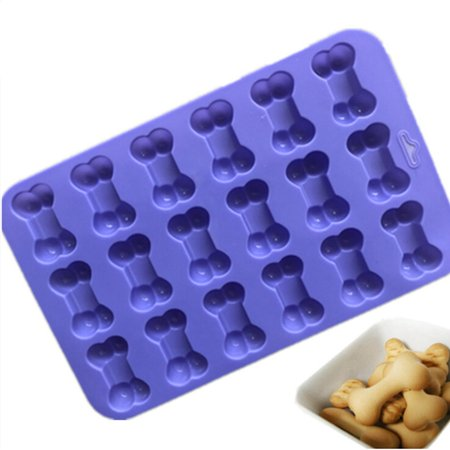 Fancyleo 18 Cavity Dog Bone Silicone Cakes Mold Chocolate Biscuit Ice Cube Mould Decors