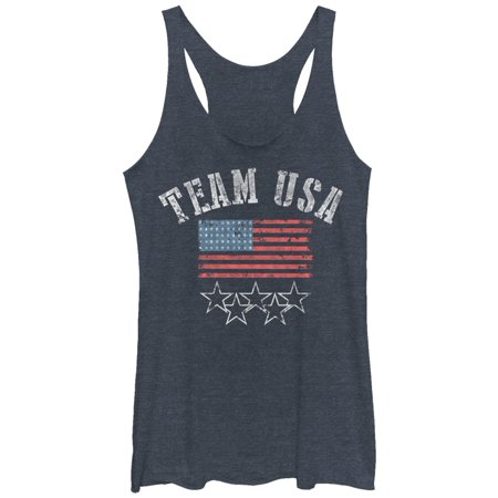 Women's 4th of July Go Team USA Racerback Tank (Rooms To Go Fourth Of July Sale 2016)