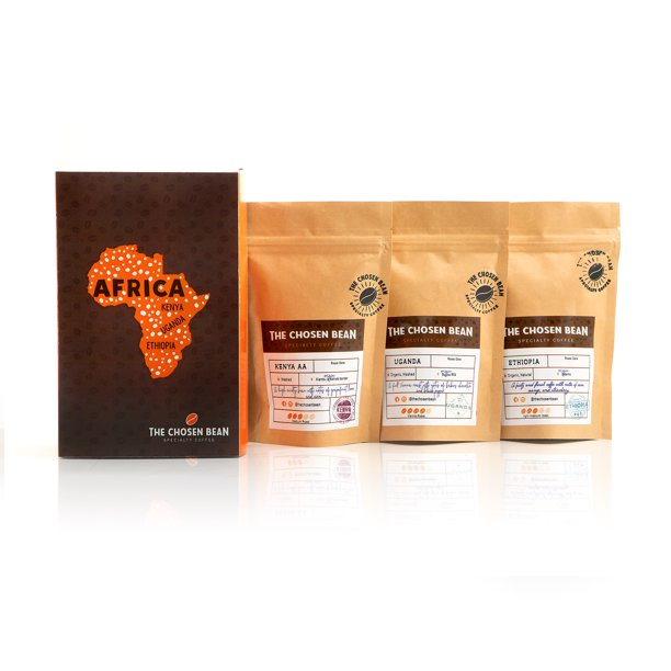 The Chosen Bean Try Me Africa Ground Coffee Variety Pack, 18 ...