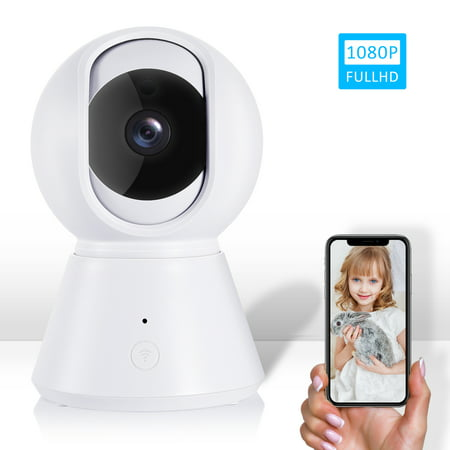 Wi-Fi Video Baby Monitor, IPOW Multi-Purpose 1080P Wireless Baby Monitoring System, Wi-Fi Home Security Camera, 2.4Ghz Camera with Automatic Night Vision