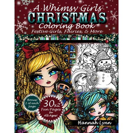 A Whimsy Girls Christmas Coloring Book
