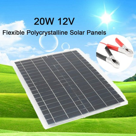 Elfeland 20w 12v Flexible Polycrystalline Solar Panel