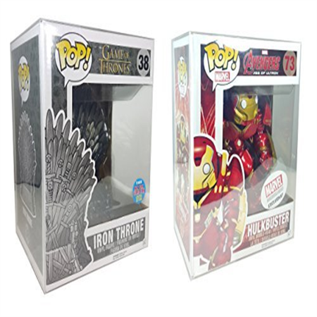 Funko Pop Protector Case for 6 Inches Vinyl Figures Lot of 6 by Malko 6 Inch Vinyl Figure