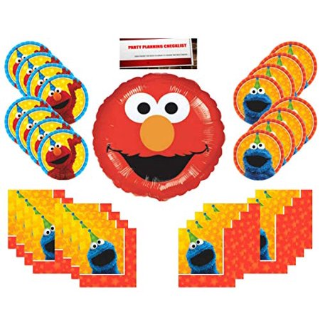 Sesame Street Birthday Party Supplies Bundle Pack 16 (Bonus 18 inch Elmo Balloon Plus Party Planning Checklist Mikes Super Store)](Party Stores In Houston)