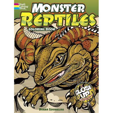 Monster Reptiles : A Close Up Coloring Book