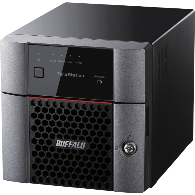 Buffalo 2-bay Business NAS - Annapurna Labs Alpine AL-212 Dual-core (2 Core) 1.40 GHz - 2 x Total Bays - 8 TB HDD - 1 GB RAM DDR3 SDRAM - Serial ATA/600 - RAID Supported 0, 1, JBOD - Gigabit Ethernet
