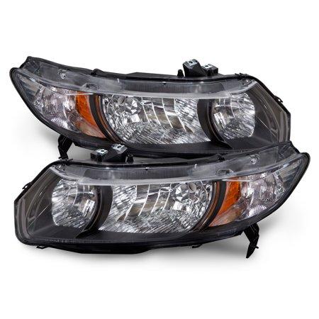 2010-2011 Honda Civic 2-Door Coupe Headlights Set HO2519126 &