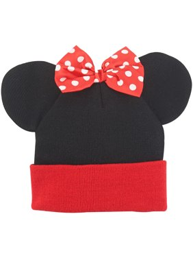 Minnie Mouse Ears Bow Cuff Beanie