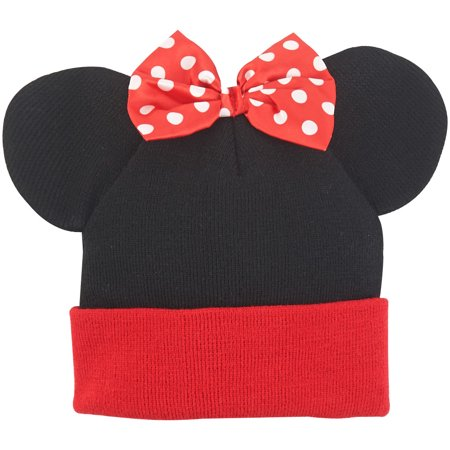 Minnie Mouse Ears Bow Cuff Beanie](Minnie Mouse With Light Up Bow)