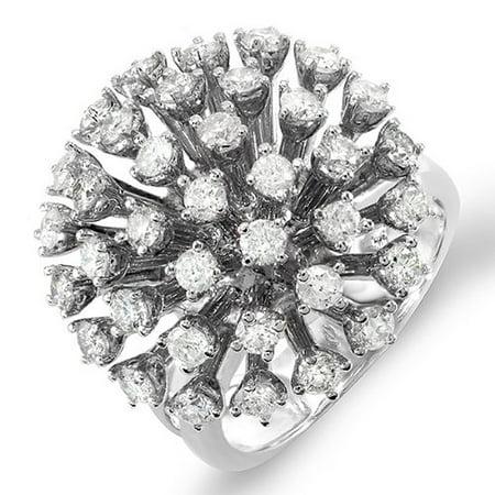 Diamond Ladies Cocktail Ring - Dazzlingrock Collection 2.00 Carat (ctw) 14k Round Diamond Ladies Cocktail Ring 2 CT, White Gold, Size 5.5