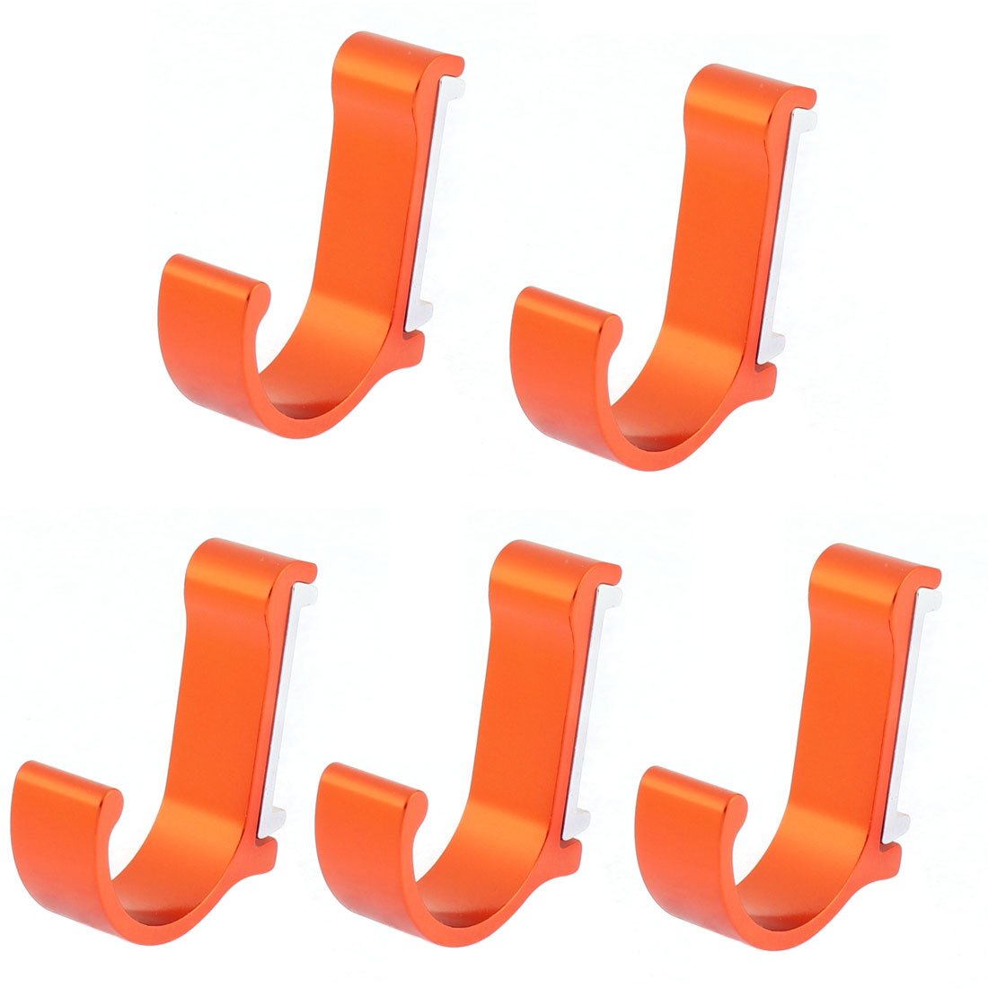 5pcs Utility Modern Wall Hooks for Coats Garment Bags Hanging Orange